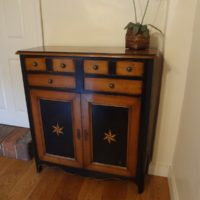 Solid Wood Cupboard with 4 Drawers