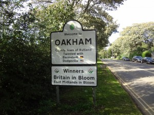 Oakham High Street - Oakham Sign